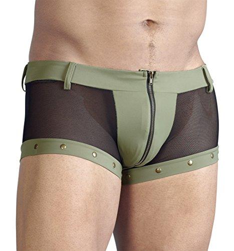 Preisvergleich Produktbild Svenjoyment Herren Boxer in oliv mit Reißverschluss Stirnlampe Größe S
