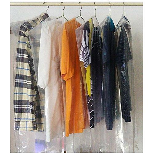 Sky-Welle 10x Transparent Kleidersack Mantelschutz Kleiderschutzhülle Kleidersäcke Schutzhülle Kleiderfolie (Die Transparente Folie Kleid)