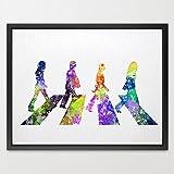 dignovel Studios Beatles acuarela ilustración art print Nursery Decor Kids Art impresión decoración del hogar regalo de bodas regalo de cumpleaños Rock impresión música Póster n182-unframed