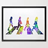 Dignovel Studios A4 Beatles watercolour illustration Art Print Nursery decor Kids Art Print Home decor Wedding gift Birthday Gift Rock print music poster N182-Unframed