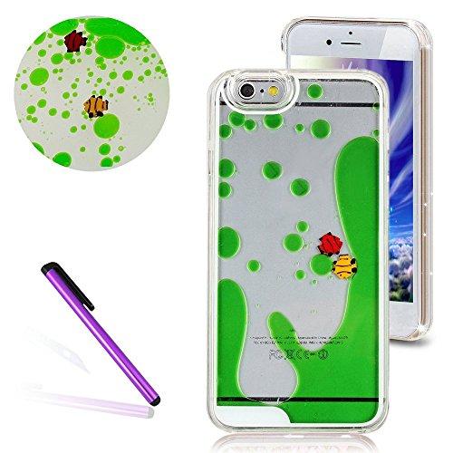 Transparent Hülle für iPhone 6S,Glitzer Hülle für iPhone 6S,EMAXELERS Crystal Hard Case Hülle für iPhone 6 6S,iPhone 6S Case Transparent Glitzer Flower Plastik Schutzhülle Hülle für iPhone 6,Bunte Sta Fishes 2