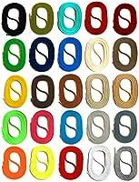 SNORS LACETS de COULEUR ronds, 26 couleurs, 4 longueurs, 2-3mm - Dentelles