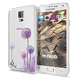 NALIA Handyhülle für Samsung Galaxy S5 S5 Neo, Slim Silikon Motiv Case Hülle Cover Crystal Schutzhülle Dünn Durchsichtig, Etui Handy-Tasche Backcover Transparent Bumper, Designs:Dandelion Pink
