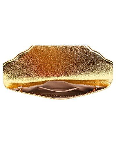 Foxlady, Damen Clutch Gold
