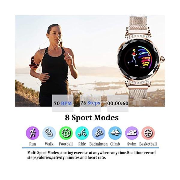 wetwgvsa Fitness Tracker Reloj Pulsera presión Sanguigna pulsómetro de muñeca Actividad Tracker Smartwatch H2 Monitor… 2