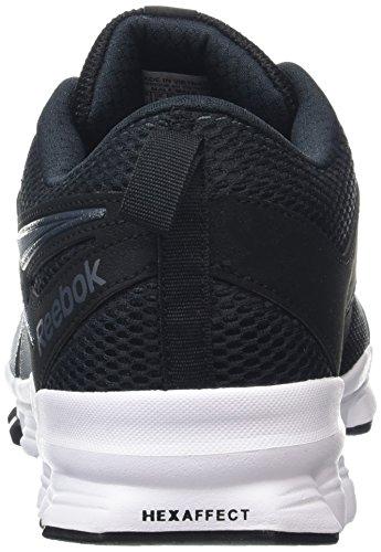 Reebok Hexaffect Sport, Chaussures de Running Entrainement Homme Noir (Black/Smokey Black/White)