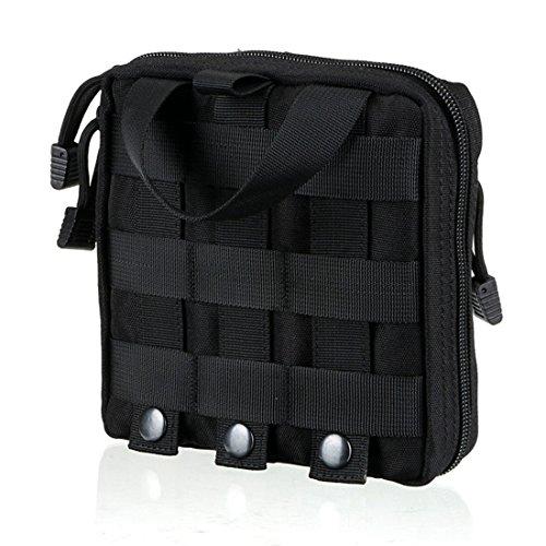 bluesnail MOLLE EMT First Aid Kit Bag Tactical Survival Gear Bag Medical Zubehör Utility Tool Storage EDC Pouch Schwarz