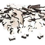 Großes Set mit 72 Stück natur Osterhasen Hasen Holz Größe: 2,5 bis 7 cm zum Basteln und Dekorieren als Osterdeko Tischdeko Streuteile Dekostreu Zierstreu am Ostertisch oder Aufkleben auf Ostergeschenke give-aways