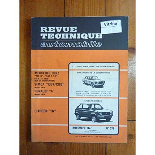 RTA0372 - REVUE TECHNIQUE AUTOMOBILE CITROEN LN