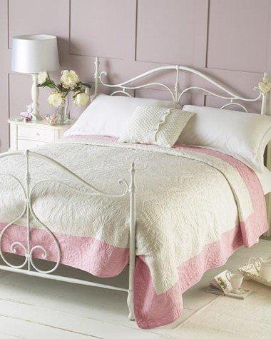 Patchwork Tagesdecke Überwurf für Doppelbett rosa 240X 260 CMS Überwurf - Quilt - Plaid - Patchwork - Bettüberwurf Pink