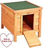 VivaPet Cat/Puppy/Rabbit/Guinea Pig Wooden Hide House, 50 x 42 x 43cm