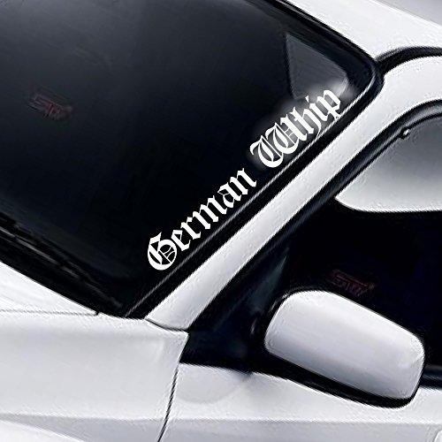 German Whip Windschutzscheibe Aufkleber Heckscheibe Static AutoAufkleber Stance Low Lowered Slammed DUB Tuning Frontscheibenaufkleber Frontscheibe Sticker Decal