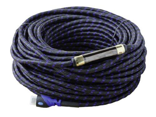 MutecPower High Speed 30m HDMI Kabel mit Ethernet - Mit Eingebautem Signal Verstärker -1.4a- unterstützt Full HD 3D & Audio Return Channel-[Die Späteste HDMI Version Verfügbar] 30 Meter High Speed Hdmi Tm-kabel