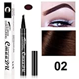 EisEyen Augenbrauenstift Tattoo Wasserfest schwarz braun grau mit 4Tips, Wasserdicht Langanhaltend Augenbrauenstift, Liquid Eyebrow Pen Brow Gel für Augen Make up