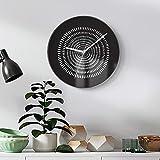 Horloge murale No Clicking Horloge d'art moderne en noir et blanc Accueil Mode...