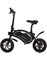 Ancheer Folding Electric Scooter with 12 Mile Range, 4.4AH LG cell Battery , APP function Setting and Collapsible Frame Black (12 inch)