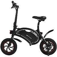 Ancheer Bicicleta eléctrica plegable con rueda de 12 pulgadas, motocicleta eléctrica con alcance de 12