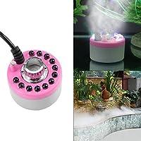 1pc 12LED Farbwechsel mehrfarbig der Hersteller von der Nebel-Licht für die Quelle von Wasser Pond pink Farbe Rosa