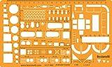 1:50 échelle Trace Gabarit D'architecte Symboles de Plan d'étage Installation Sanitaire - Disposition des Meubles Mobilier Décoration d'intérieurs Dessin Technique Traçage Illustration Architecture Maisons