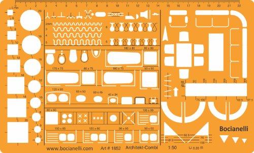 1:50 Architekt Schablone Zeichenschablone Möblierung - Innenarchitektur Technisches Zeichnen (Gebäude-wörterbuch)