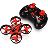 ONCHOICE E010 Mini UFO Quadrocopter Drohne Nano Quadcopter Drone Weinachten Geschenk Spielzeug (Rot)