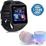 LimeShot DZ09 Bluetooth Smartwatch with Activity Tracker and Wireless Speaker, FM Radio for Android Devices (Colour May Vary)