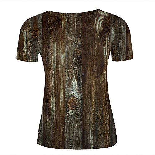 qianyishop 3d Print T Shirts Wooden Wall Graphics Men Women Couple Fashion Tees D
