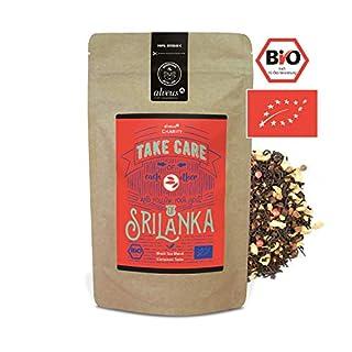 alveus Soul of Sri Lanka ORGANIC: Lose Teemischung mit Schwarzem Tee, Zimtstange, Ingwer, schwarzem Pfeffer, rosa Pfeffer, natürliches Aroma, Kardamom, Muskat, Bourbon Vanille, 100g Tüte