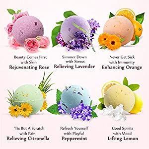 Bath Bombs Gift Set, TTRwin 12 Fizzy Bubble Bath Bath Bombs, Organic Natural Vegan Spa Bath Bomb Kit with Different Organic Essential Oils,Birthday Gift idea For Her, Women, Men,Kids and Teen Girls