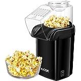 Aicok Macchina Pop Corn, Machine Popcorn Compatta ad Aria Calda senza Olio Grasso, Coperchio Rimovibile, Senza BPA, 1200W