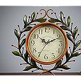 Watch el salon dormitorio Casa mudo Olive Branch creativo reloj Relojes Retro Reloj país colgando