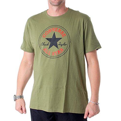 Converse T-Shirt Herren CORE Chuck Patch 10002848 Khaki 333, Größe:S