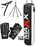 5ft blk/w maxx punchbag - choose your package, With Gloves & Bracket