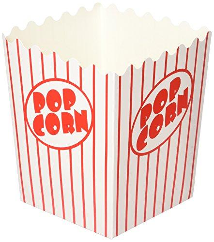 Noe & Malu Kino Popcorn-Boxen–Bulk Container für Party, Fasching, Circus Nacht–Pop Corn Karton mit flacher Boden mit (20Stück)