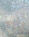 Arthome Sin Pegamento Vinilo Pegatina de Ventanas Proteger La Privacidad Adherencia Electrostática Anti UV Hogar Decorativos para Sala De Estar Baño Dormitorio Cocina Oficina 60CM x 254 CM