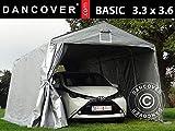 Dancover Zeltgarage Garagenzelt Basic 3,3x3,6x2,4m PE, grau