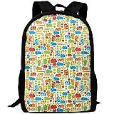 best& Vintage Guinea Pig Vegetable College Laptop Backpack Student School Bookbag Rucksack Travel Daypack