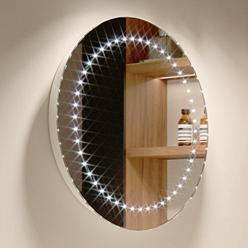 500 X Mm Modern Round Illuminated Battery LED Bathroom Mirror MC144