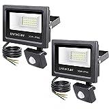 Ustellar 2 Pack 30W Motion Sensor Light, PIR Floodlight (150W Equivalent), Outdoor Security Lights, 2400lm IP66 Waterproof LED Flood Light for Garage Basement, 5000K Daylight White