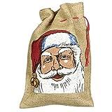 Jutesack Nikolaussack Weihnachten Nikolaus Weihnachten Geschenkesack 11x15cm Adventskalender
