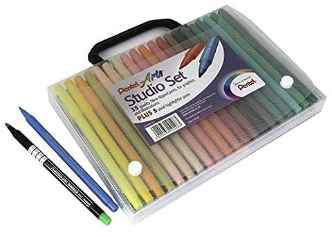 Pentel Arts Studio Pochette de feutres à dessin (Import Royaume Uni)