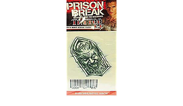 67cca51a0dff3 Prison Break Tattoo Barcode Devil Arch: Amazon.co.uk: Toys & Games