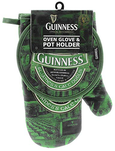 Oven Glove & Pot Holder with St. James Gate Print - Guinness Ireland Collection Land Pot Holder