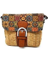 Bolso para mujer con corcho natural, uso en hombro o bandolera. De moda original