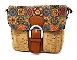 Bolso para mujer con corcho natural, uso en hombro o bandolera. De moda original para diario fiesta viaje.