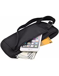 Buyworld Men Casual Functional Waist Pack Travel Pouch Zippered Waist Compact Security Money Phone Waist Belt...