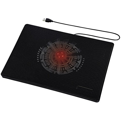 Hama Laptop Kühler 13,3 - 15,6 Zoll (USB Anschluss, Schnelle Kühlung, Flaches Slim Design, Notebookkühler) schwarz