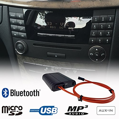 Mercedes Benz Bluetooth Freisprecheinrichtung A2DP USB SD AUX MP3 WMA Player Faser Adapter Interface Auto Kit A B C E Class Audio 20 50 Comand