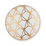 Set 12 Stück weiß und Gold - Modernes Schrank zieht für Schränke, Schubladen und Kommoden - Deko Schubladenknäufe für Wohnzimmer, Bad Beschläge, oder in der Küche ebenist von Artisanal Creations