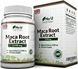Maca Root Capsules 2500mg by Nu U, 180 Capsules (6 Month's Supply)